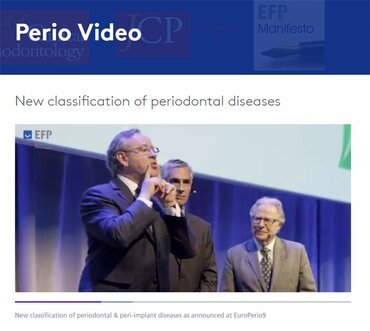 EFP releases video on new classification of periodontal and peri-implant diseases