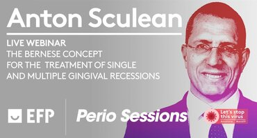 Anton Sculean will give first live EFP webinar, on treating gingival recessions
