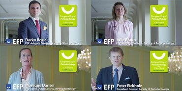 National society presidents and EFP delegates support European Day of Periodontology in promotional videos