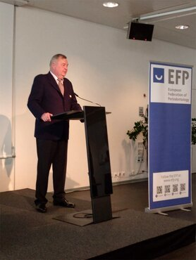 Michel Brecx receives EFP award for distinguished service