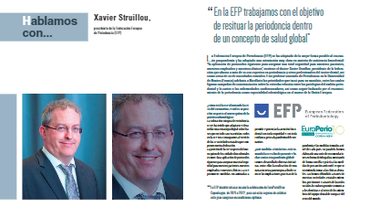 Spanish and Portuguese dental magazine interviews EFP president Xavier Struillou