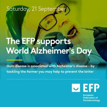 EFP supports World Alzheimer's Day and calls for more research into links with periodontitis