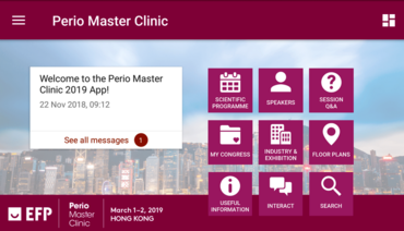 EFP launches special app for Perio Master Clinic 2019