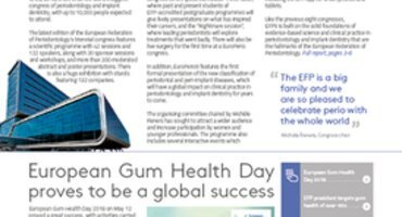 EFP News bulletin focuses on EuroPerio9 and success of European Gum Health Day