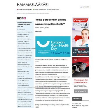 Finland: Action focused on periodontal disease and pregnancy