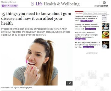 European Gum Health Day makes an early impact in the media