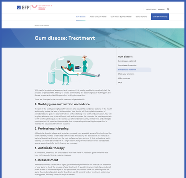 Oral Health & Gum Hub offers advice on gum health and implants to patients