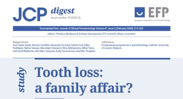Is tooth loss a family affair? JCP Digest reports on the evidence