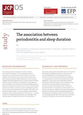 JCP Digest: Study shows association between periodontitis and sleep duration