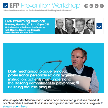 Newsletter dedicated to Prevention Workshop highlights guidelines released at November 9 webinar