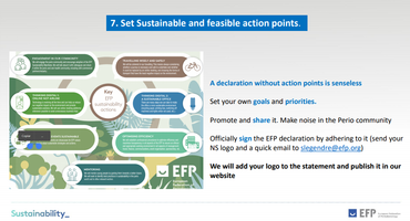 EFP puts spotlight on sustainability in workshop with national societies