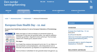 Gum Health Day 2019: Norway – website promotion