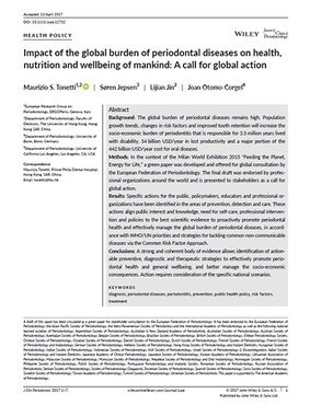 Leading researchers call for global action on prevention, diagnosis, and treatment of periodontal disease
