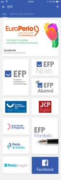 EFP App, boosted by EuroPerio9, now has more than 8,000 users