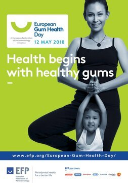 Twenty-nine EFP-affiliated societies will take part in European Gum Health Day 2018